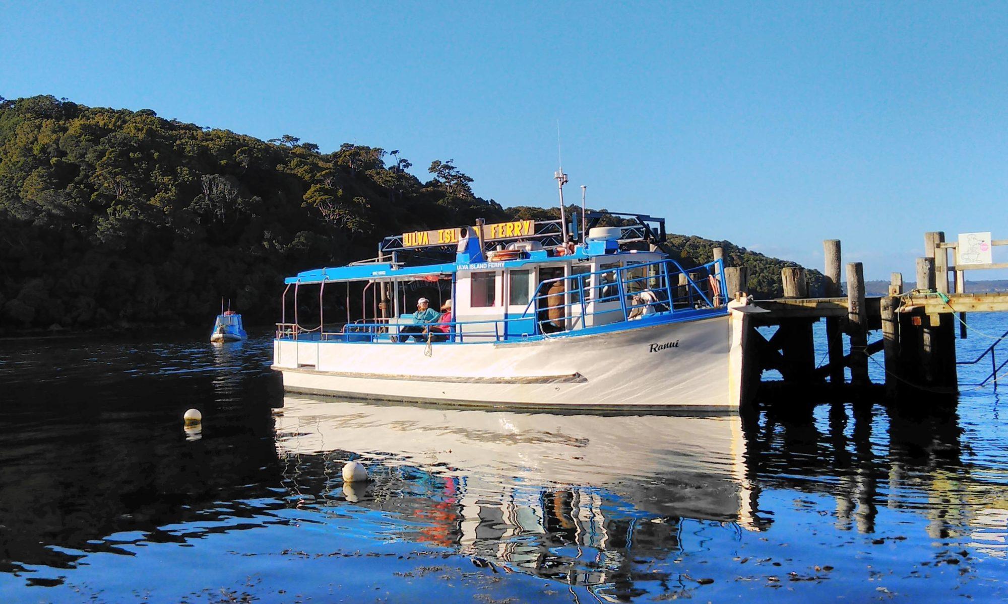 Ranui Ulva Island Ferry at Golden Bay