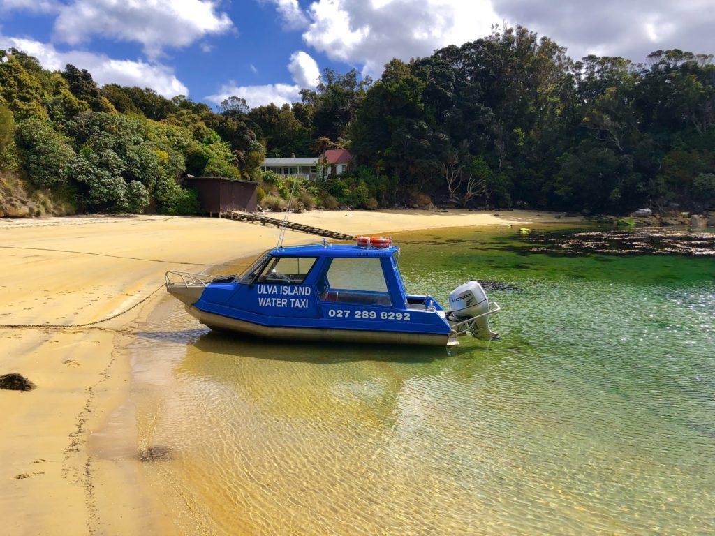 Kaian water taxi at Ulva Island