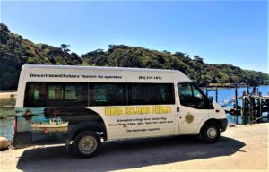 Ulva Island Ferry Shuttle Bus at Golden Bay