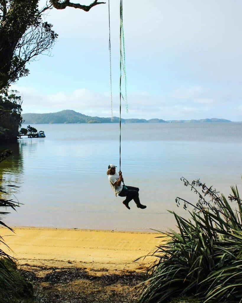 Swing at Millar's Beach, Stewart Island